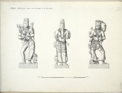 Dabhoi: Mythological figures from the temple at the Hira Gate f.14